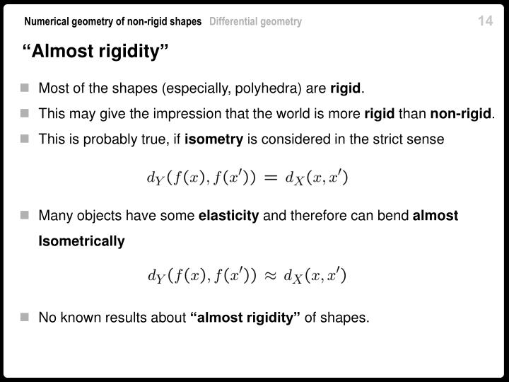 """Almost rigidity"""