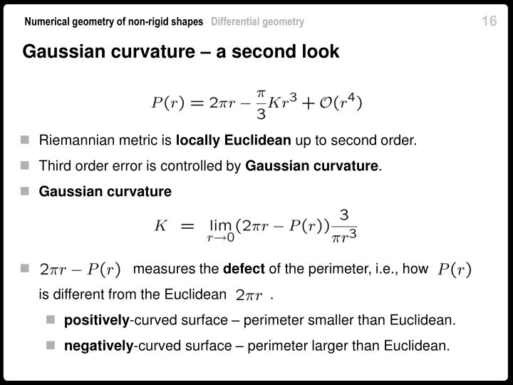 Gaussian curvature – a second look