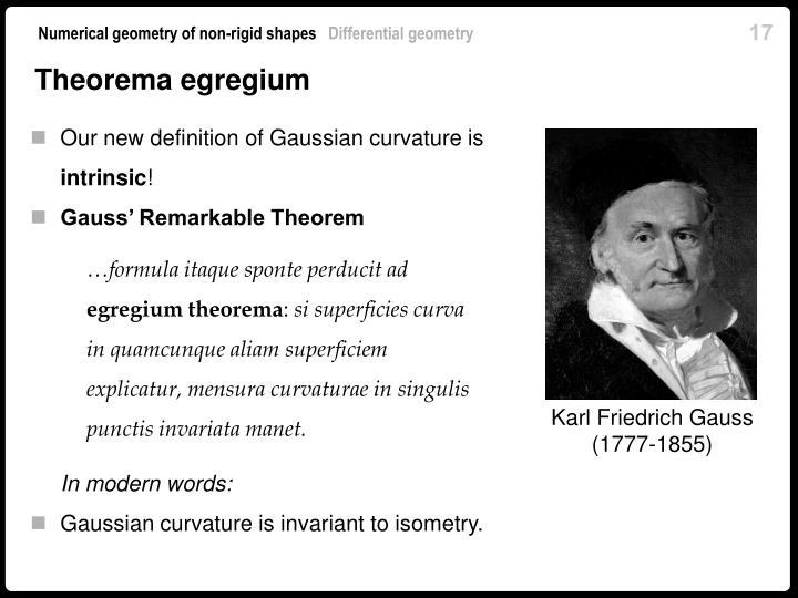 Theorema egregium
