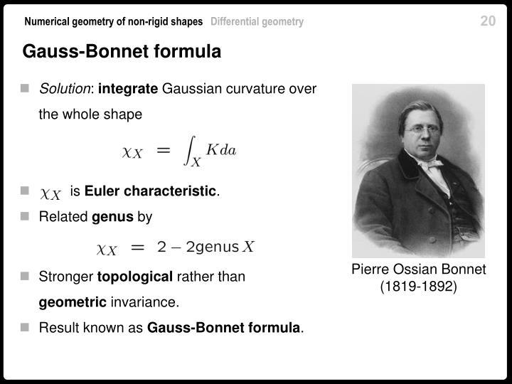 Gauss-Bonnet formula
