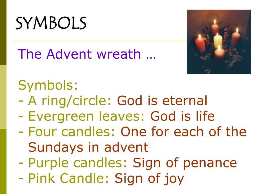 The Advent wreath …
