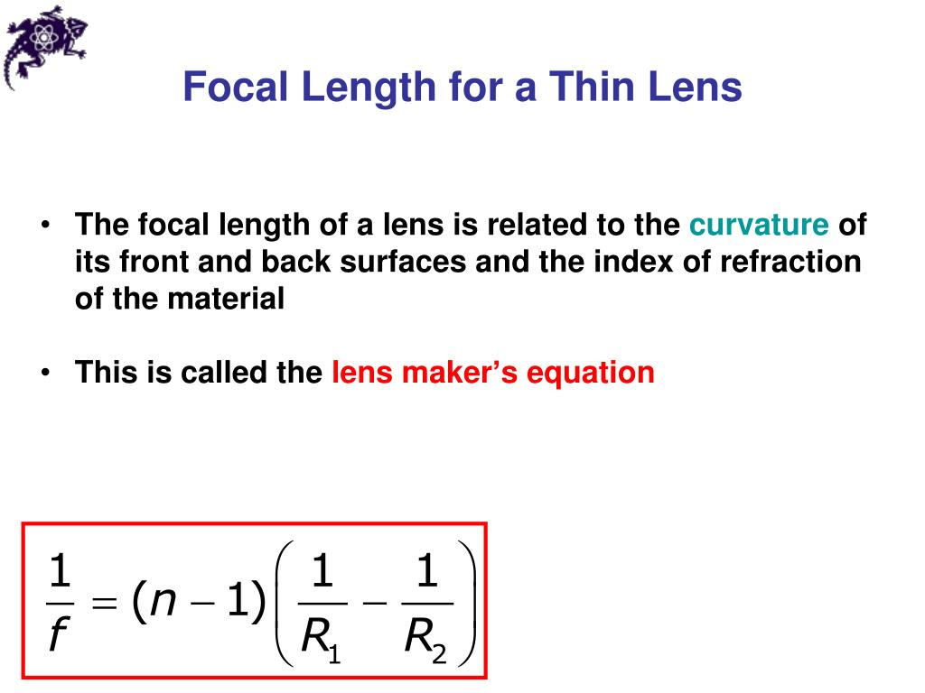 Focal Length for a Thin Lens