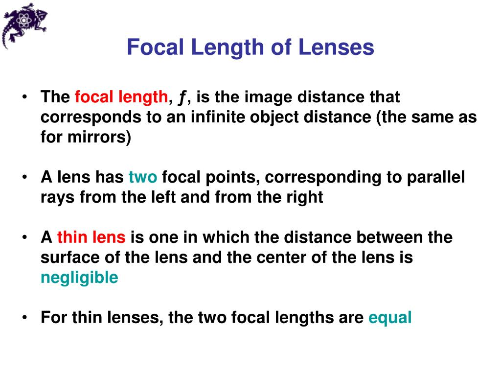 Focal Length of Lenses