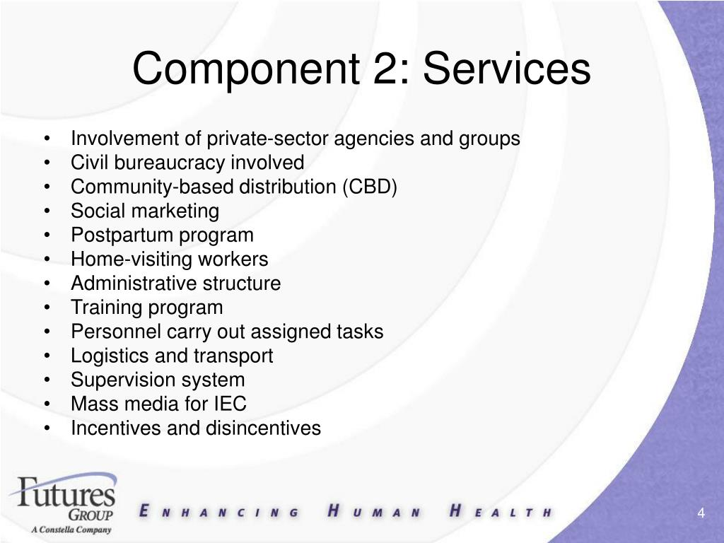 Component 2: Services