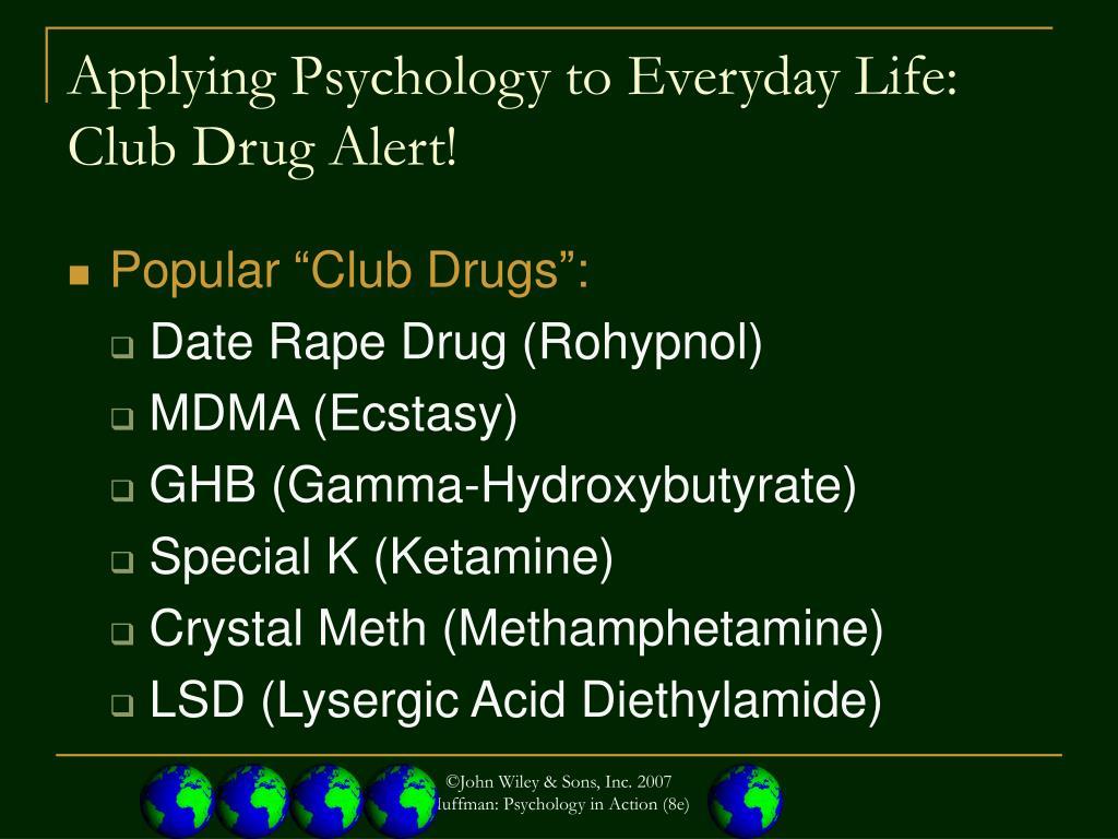 Applying Psychology to Everyday Life:
