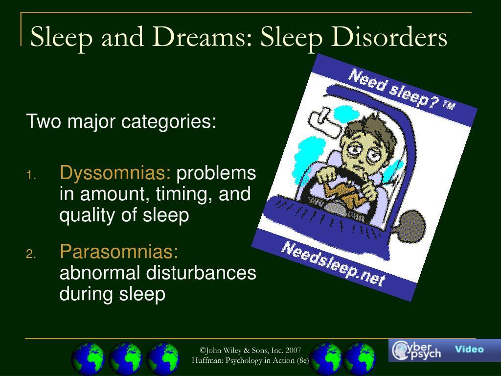 Sleep and Dreams: Sleep Disorders