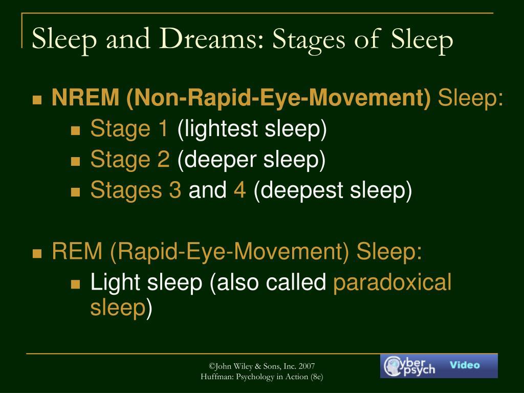 Sleep and Dreams: