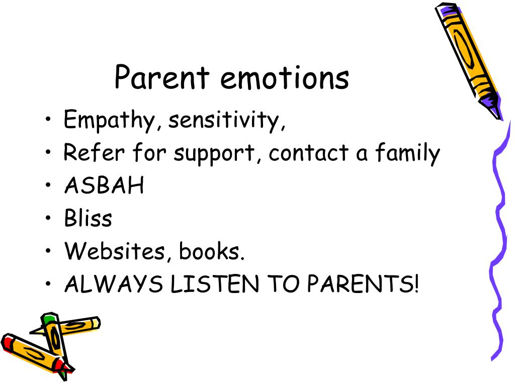 Parent emotions
