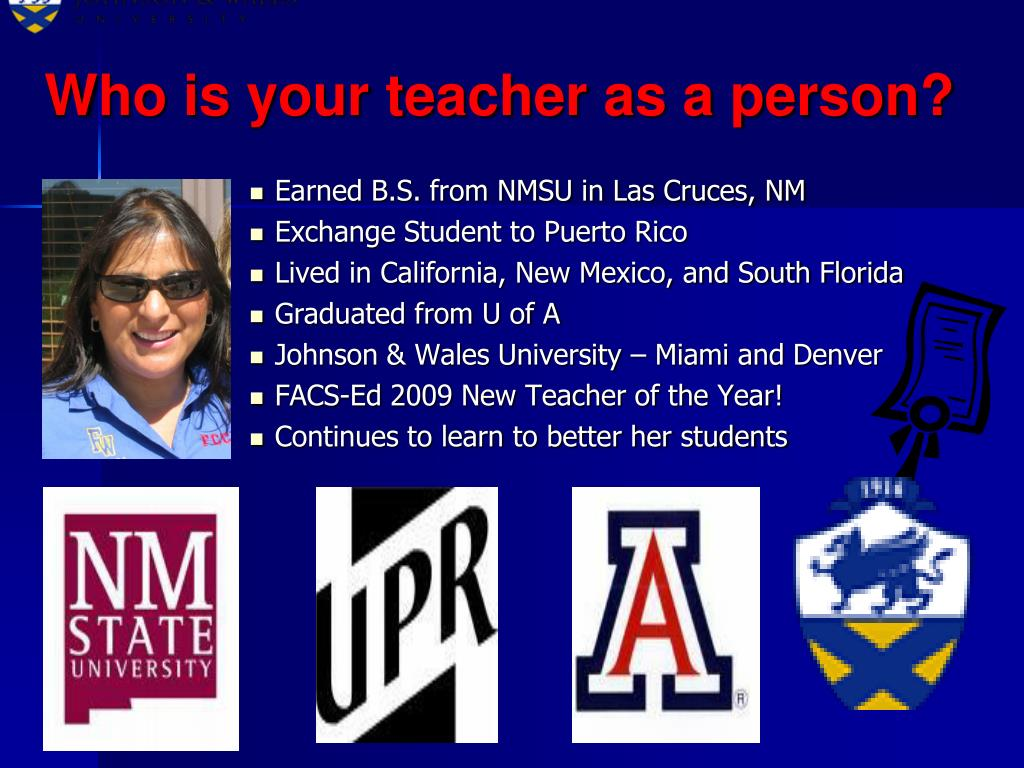 Who is your teacher as a person?