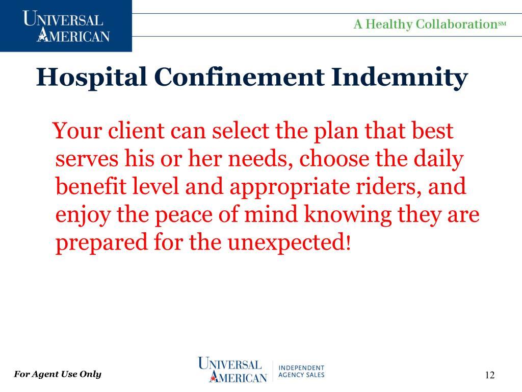 Hospital Confinement Indemnity
