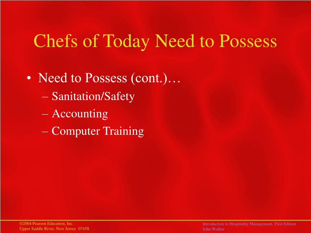 Chefs of Today Need to Possess