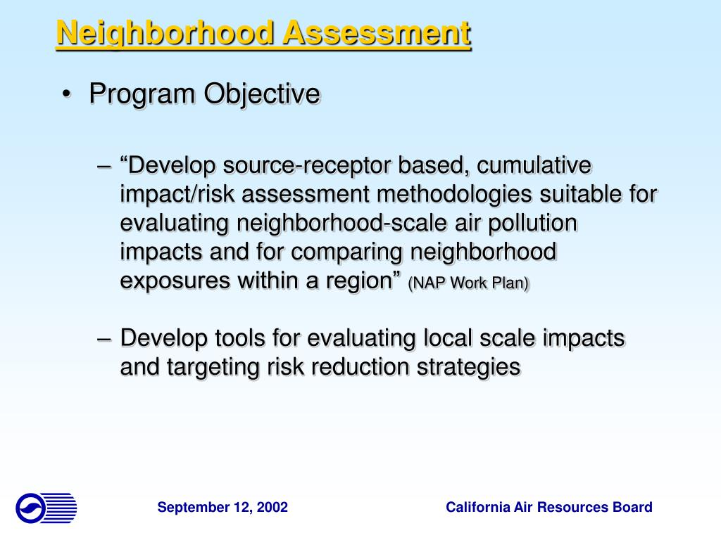 Neighborhood Assessment