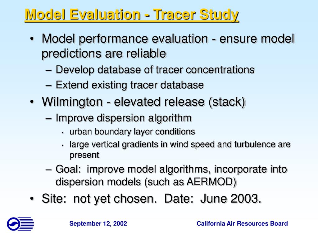 Model Evaluation - Tracer Study