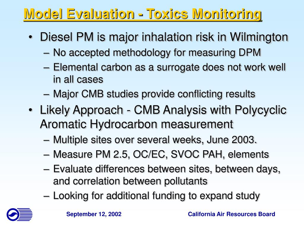 Model Evaluation - Toxics Monitoring