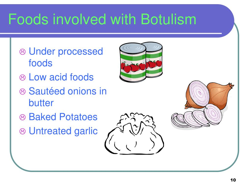 Foods involved with Botulism