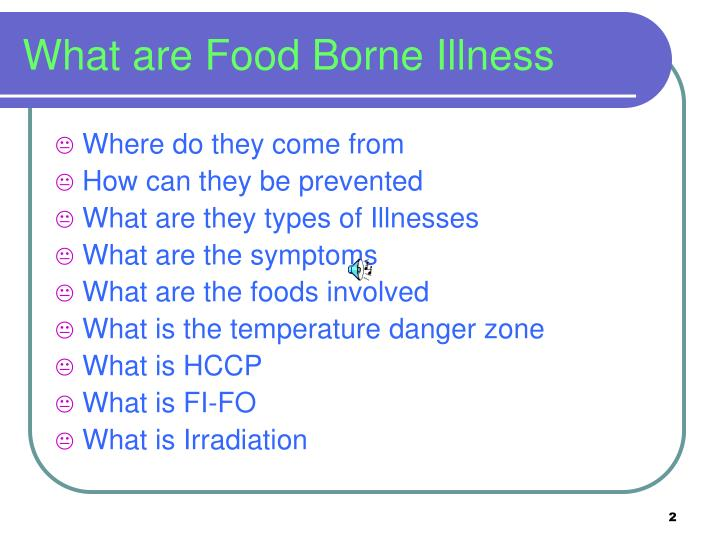 What are food borne illness