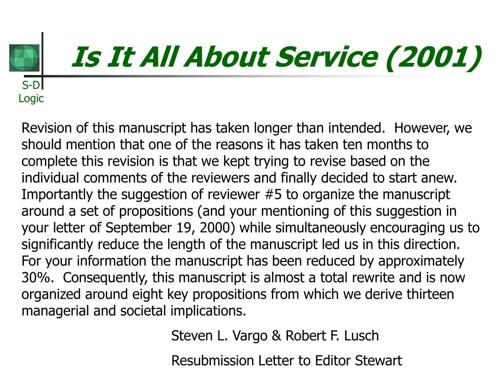 service dominant logic of marketing On jan 1, 2006 robert f lusch (and others) published: the service-dominant logic of marketing: dialog, debate, and directions.