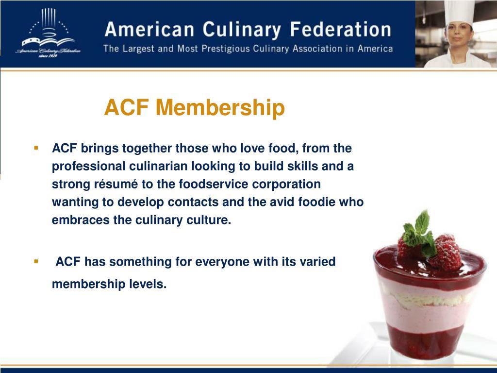 ACF Membership