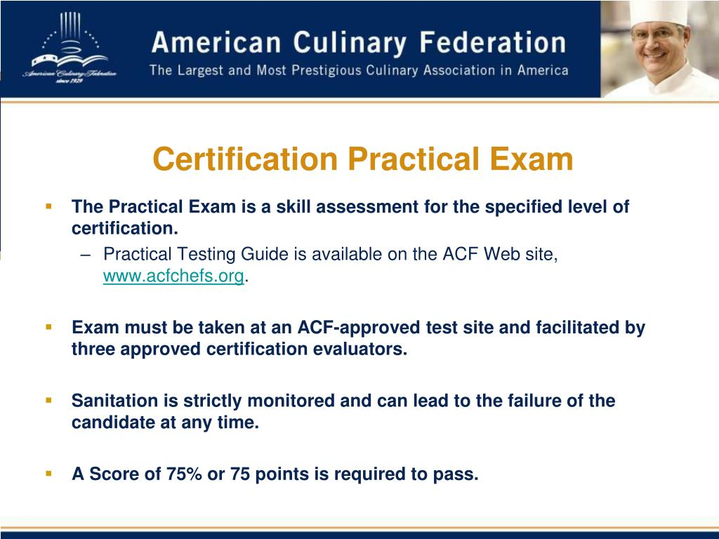 Certification Practical Exam