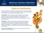 value of certification