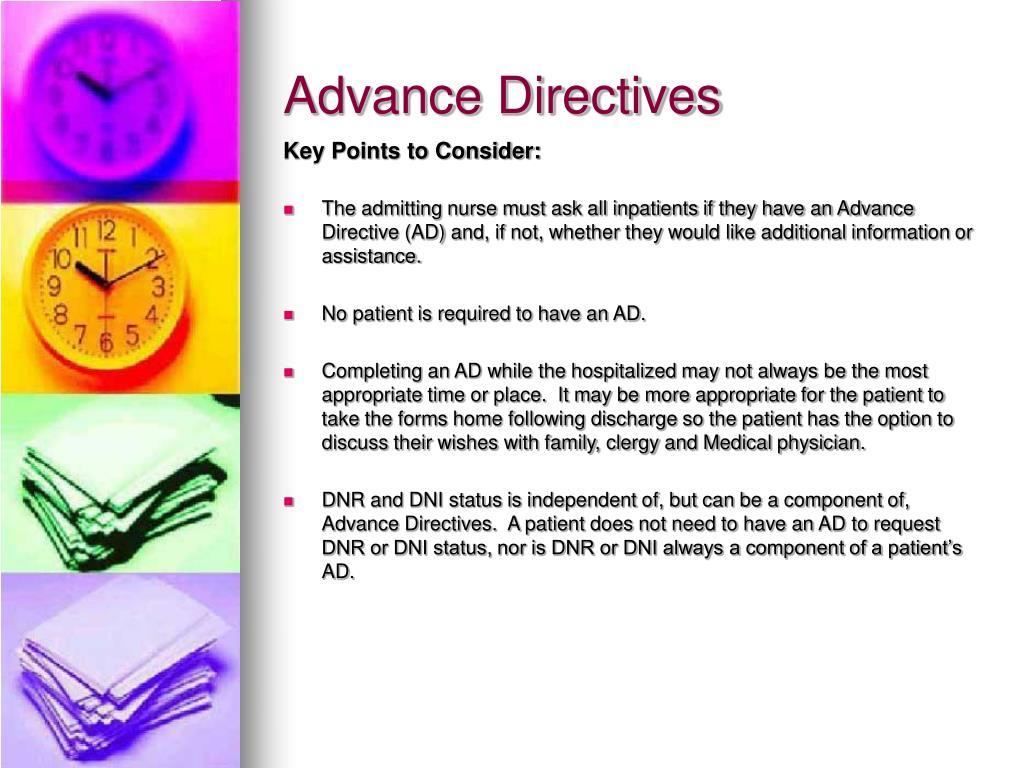 Advance healthcare directive