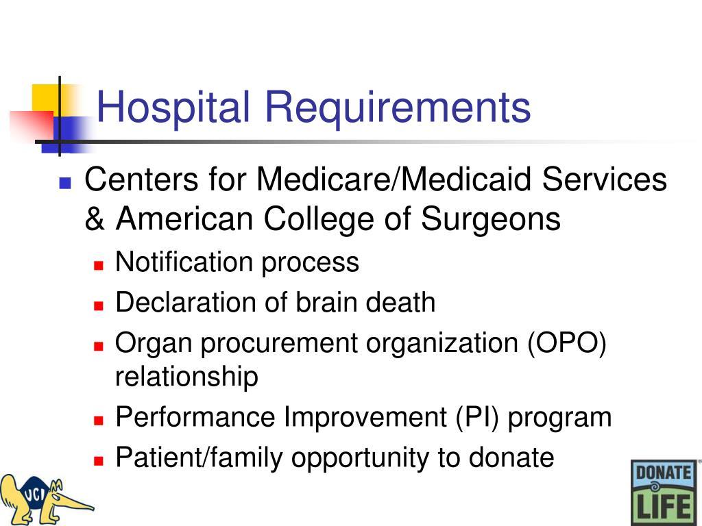 Hospital Requirements