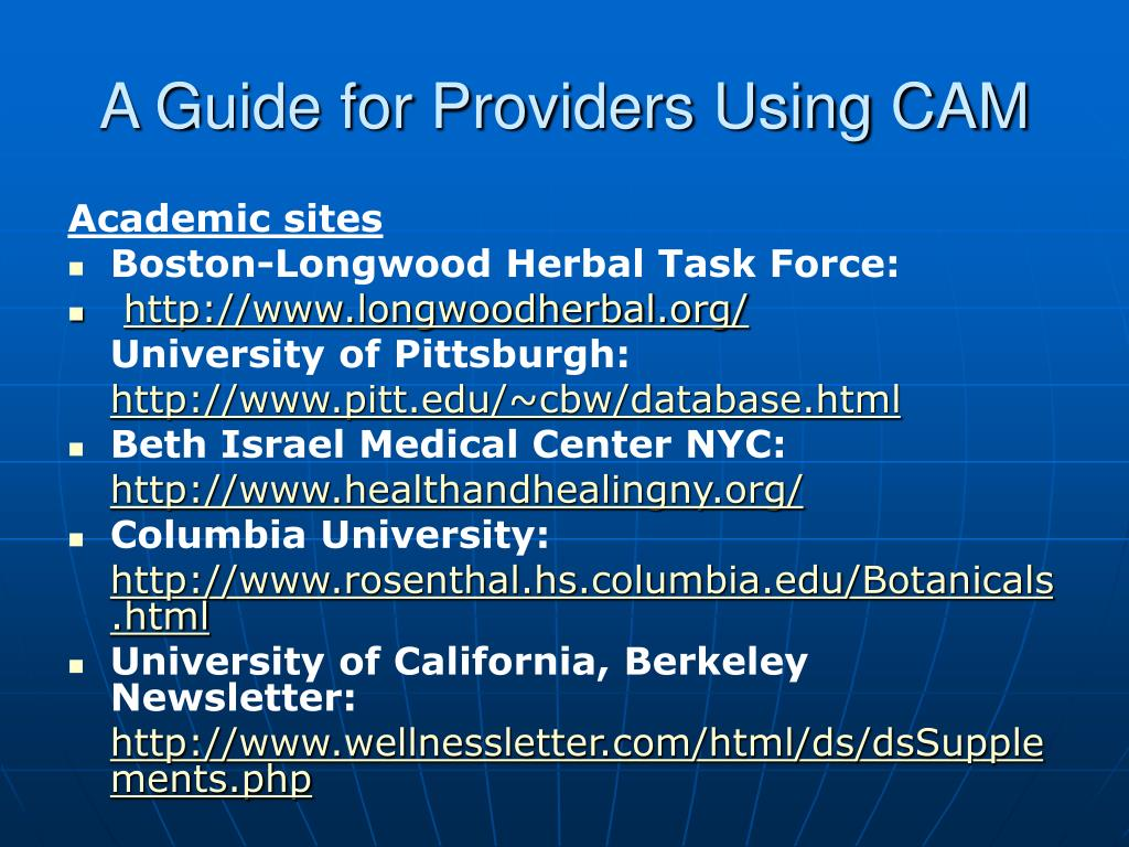 A Guide for Providers Using CAM