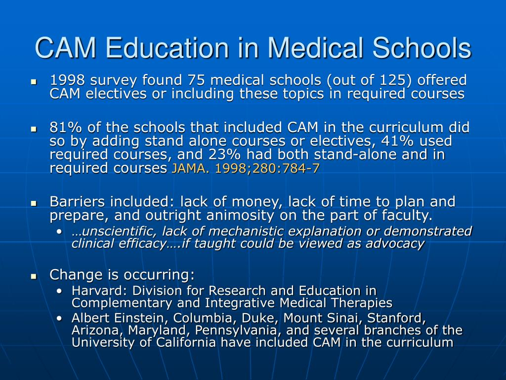 CAM Education in Medical Schools