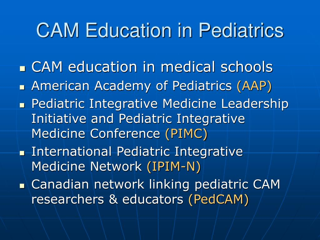 CAM Education in Pediatrics