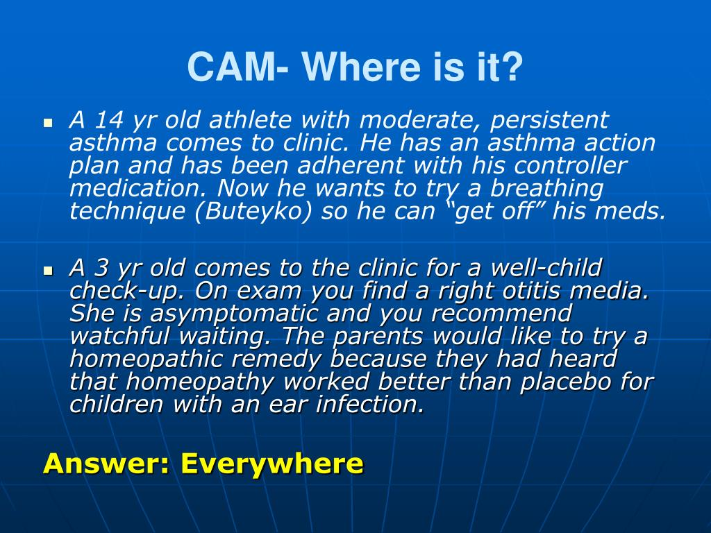 CAM- Where is it?