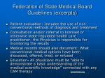 federation of state medical board guidelines excerpts