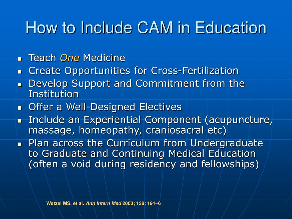 How to Include CAM in Education