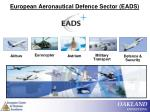 european aeronautical defence sector eads