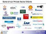 some of our private sector clients