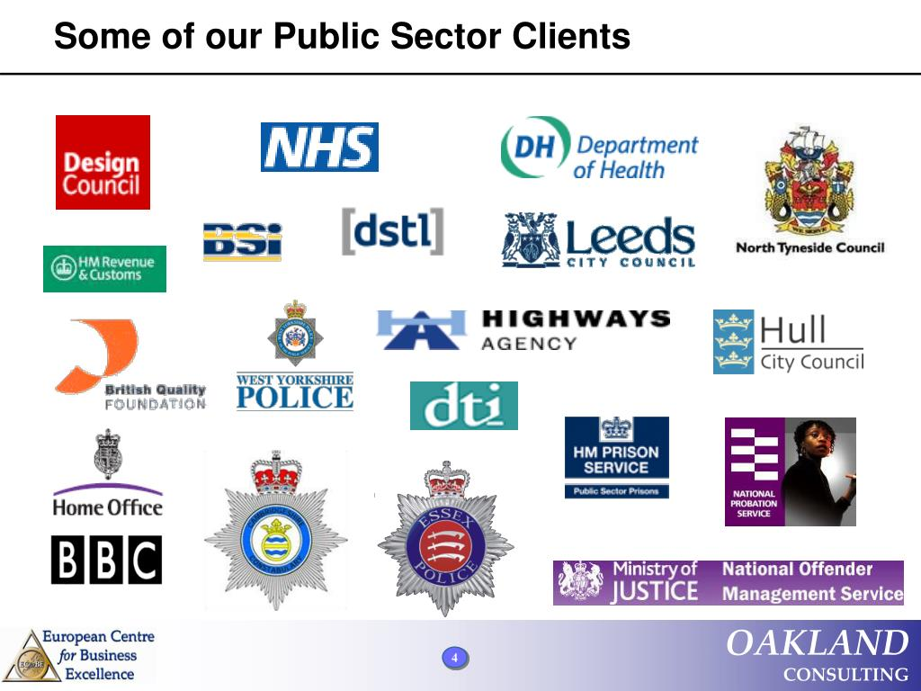 Some of our Public Sector Clients