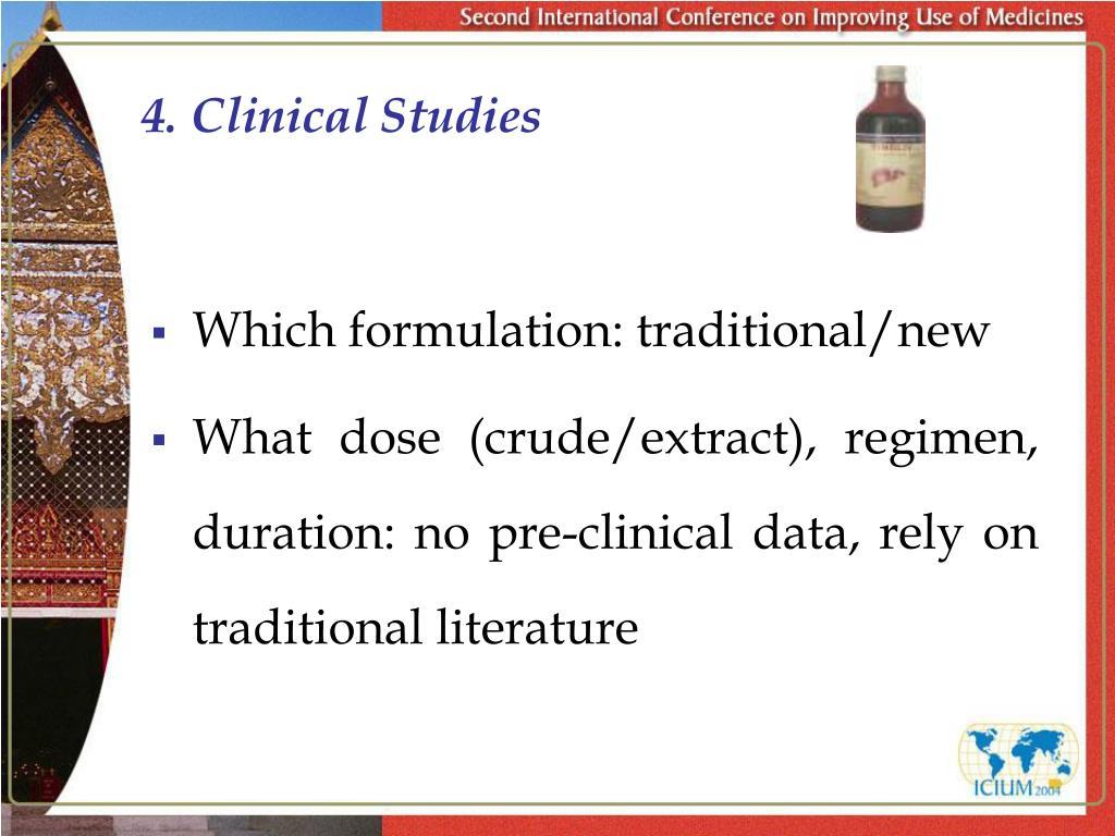 4. Clinical Studies