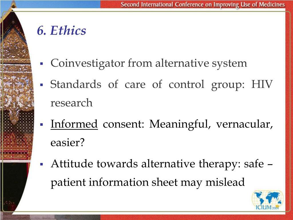 6. Ethics