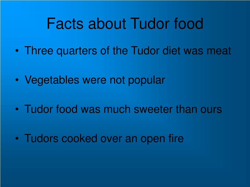 Facts about Tudor food