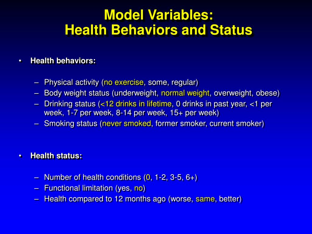 Model Variables: