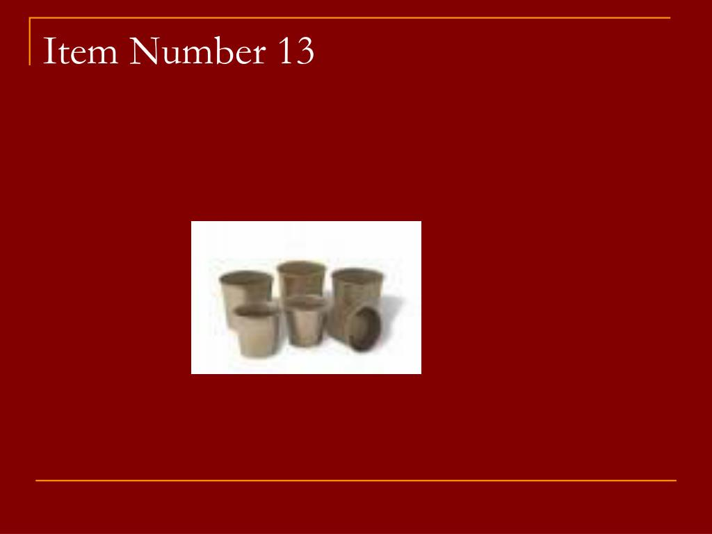 Item Number 13