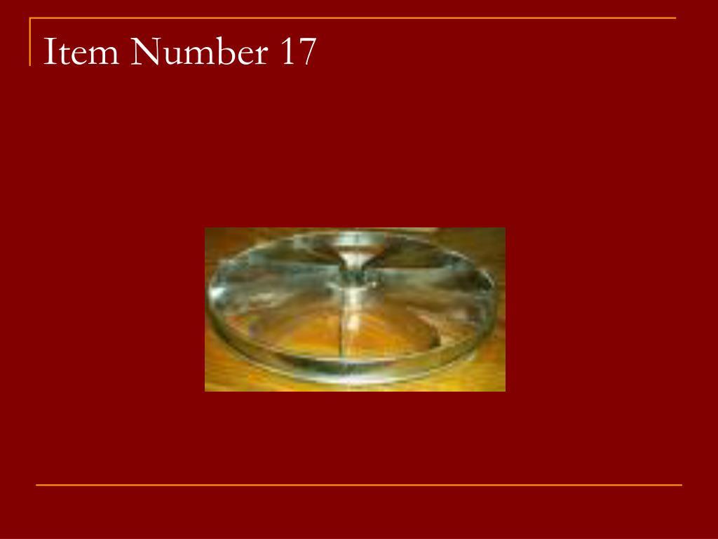 Item Number 17