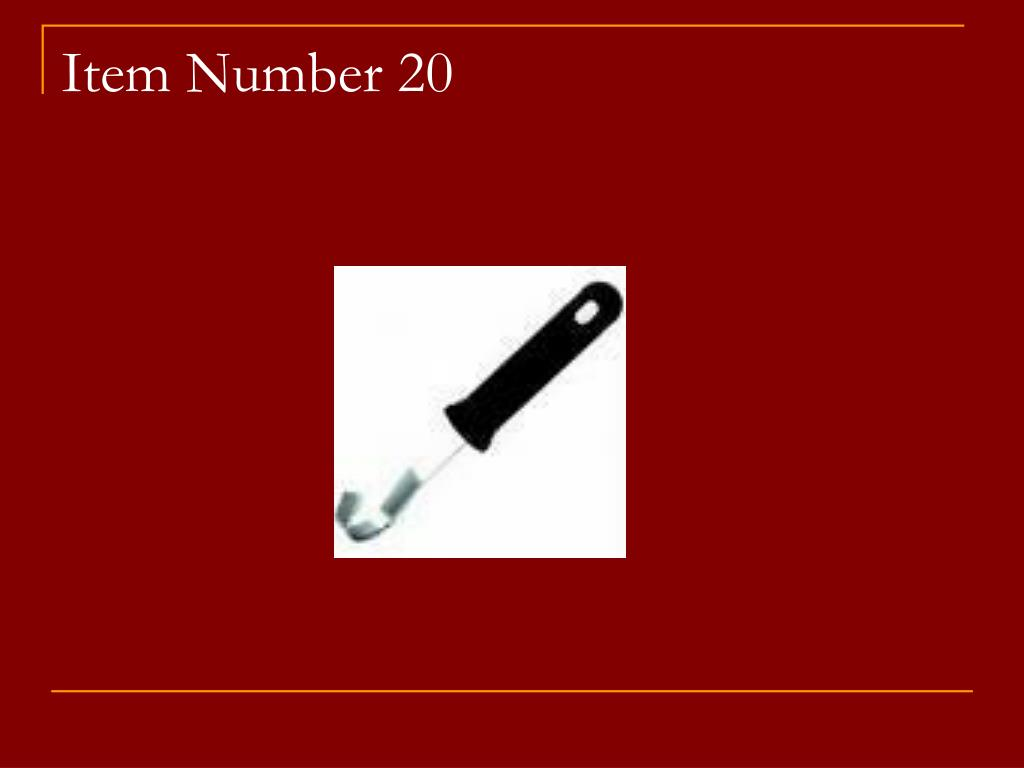 Item Number 20