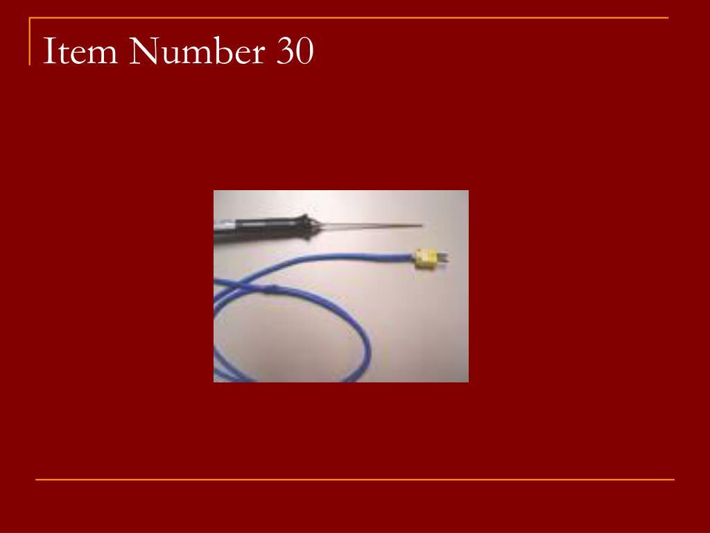 Item Number 30