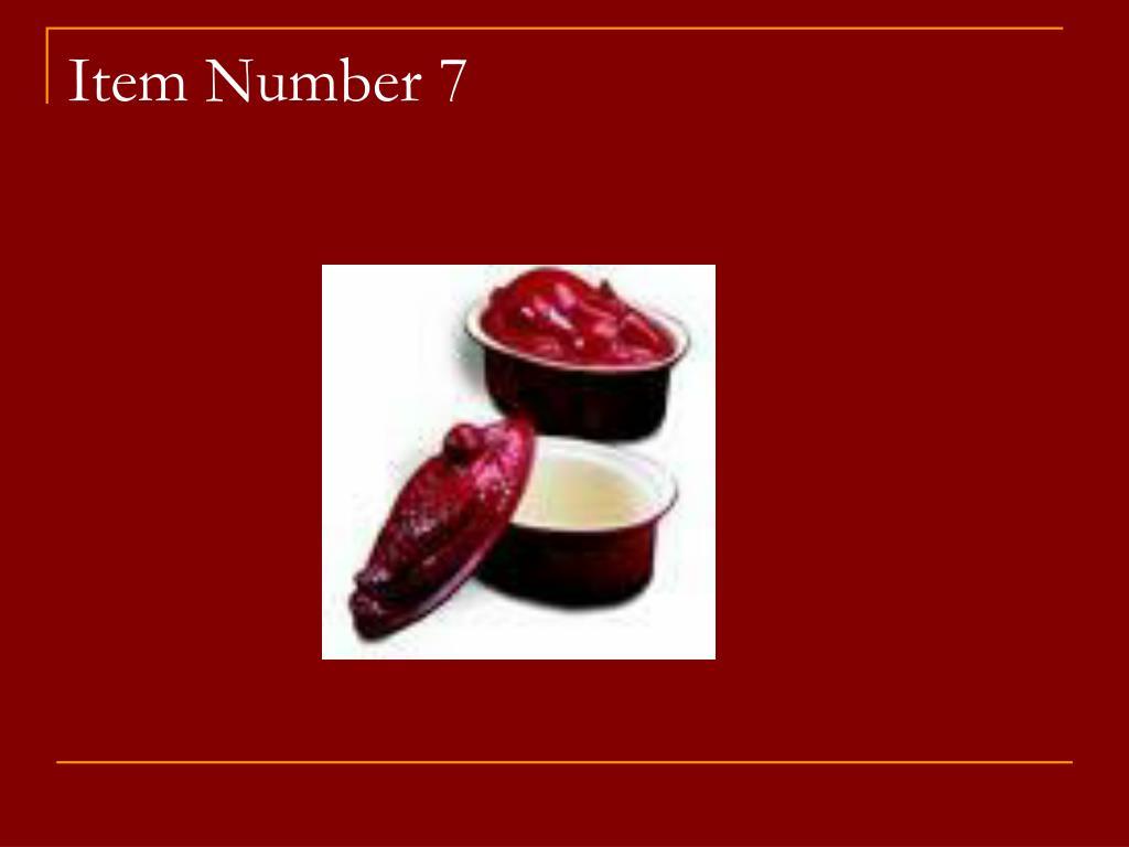 Item Number 7