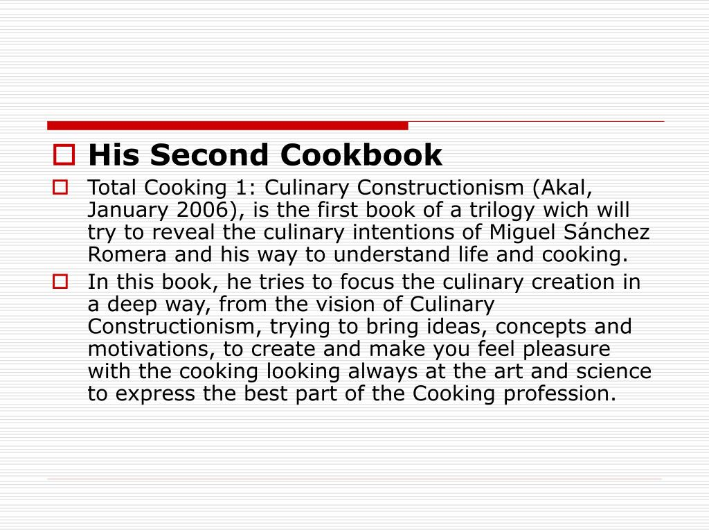His Second Cookbook