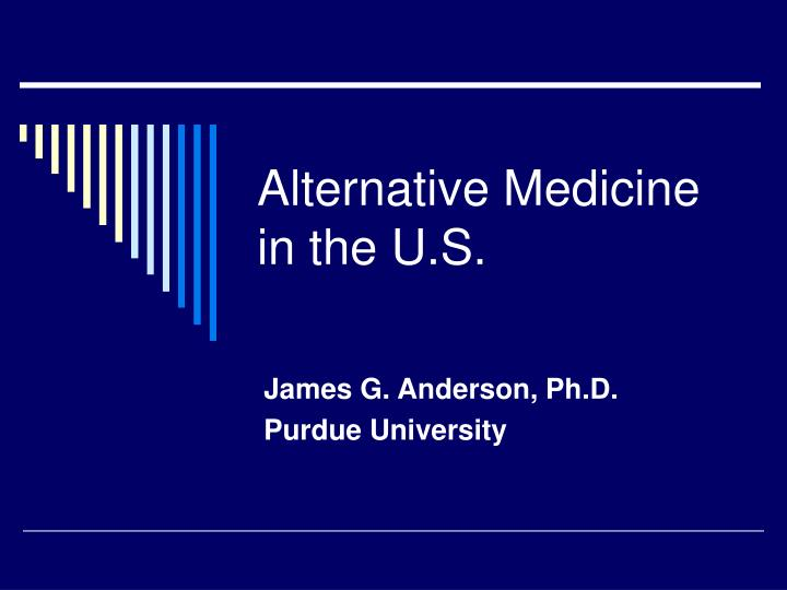 Alternative medicine in the u s