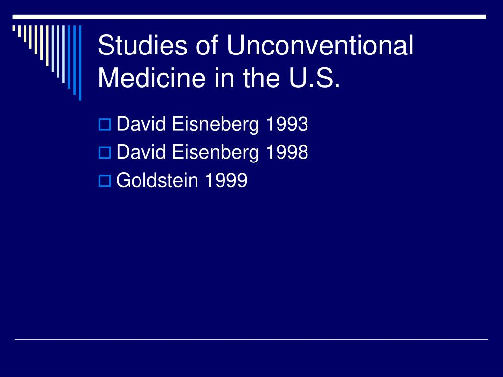 Studies of Unconventional Medicine in the U.S.
