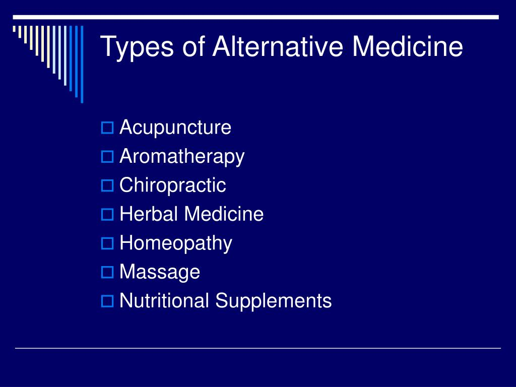 Types of Alternative Medicine