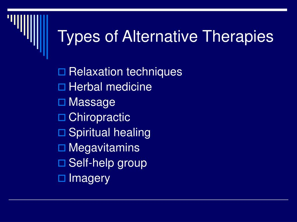 Types of Alternative Therapies