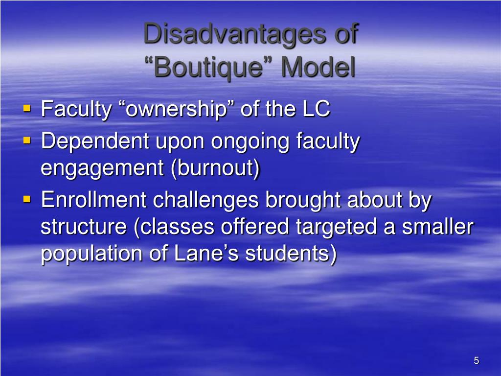 Disadvantages of